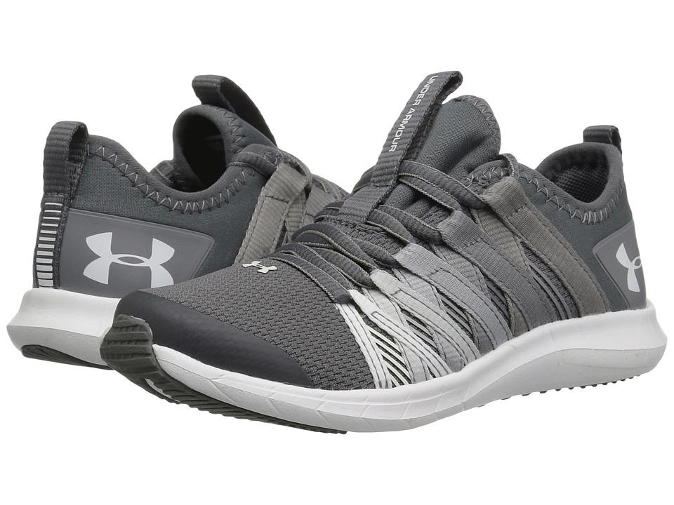 Under Armour Kids UA GPS Infinity (Little Kid) (Graphite/Zinc Gray/White) Girls Shoes