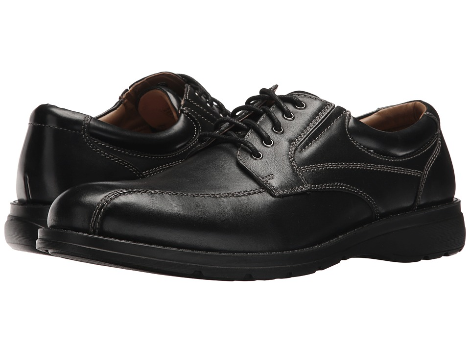 Dockers Trustee 2.0 Moc Toe Oxford (Black Polished Full Grain) Men