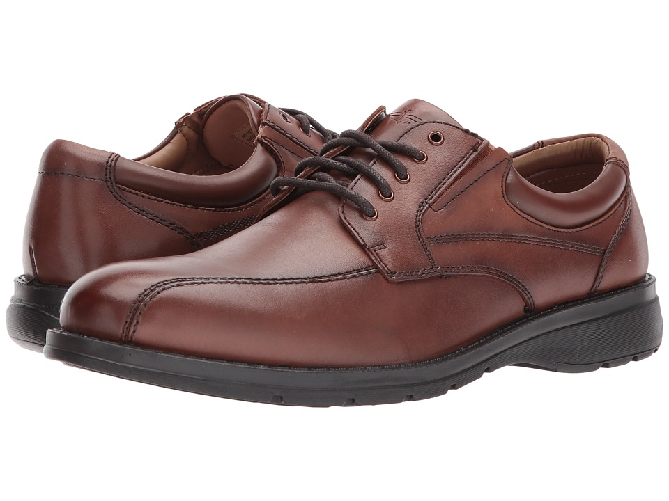 Dockers Trustee 2.0 Moc Toe Oxford (Dark Tan Polished Full Grain) Men