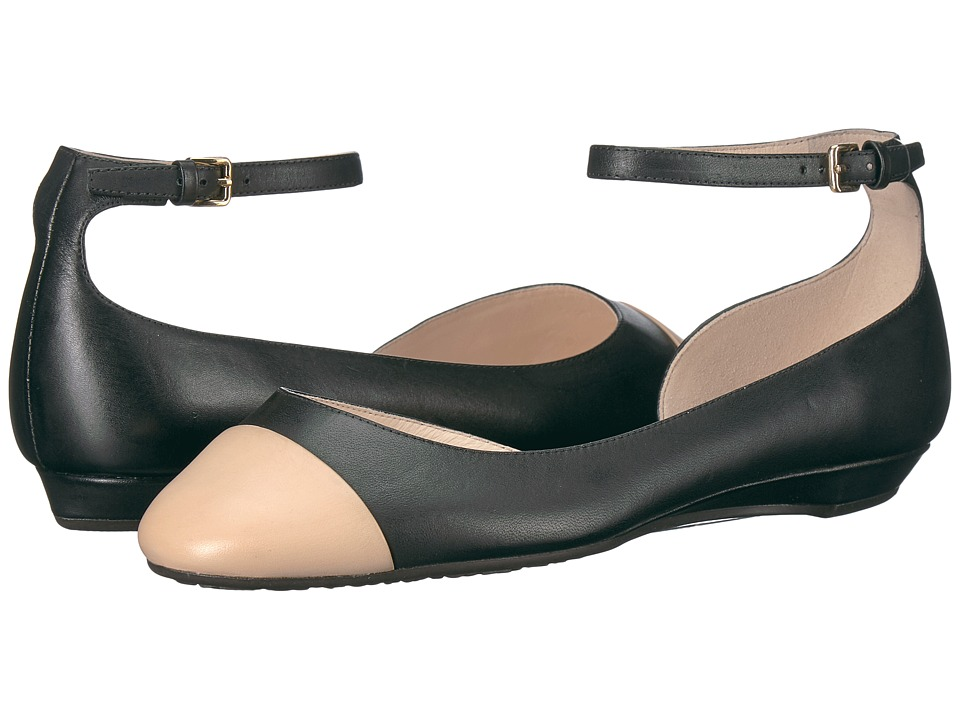 Cole Haan Dixie Ballet (Black/Nude Leather) Women