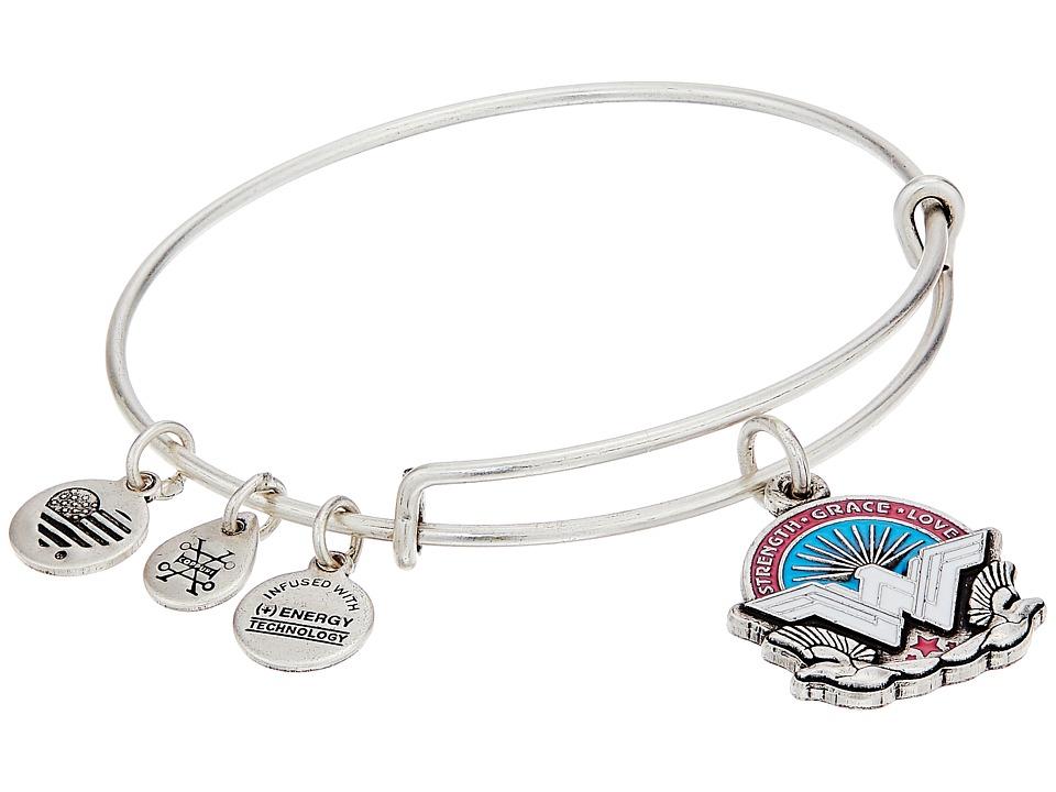 Alex and Ani - Wonder Woman, Strength Grace Love Bangle (Rafaelian Silver) Bracelet
