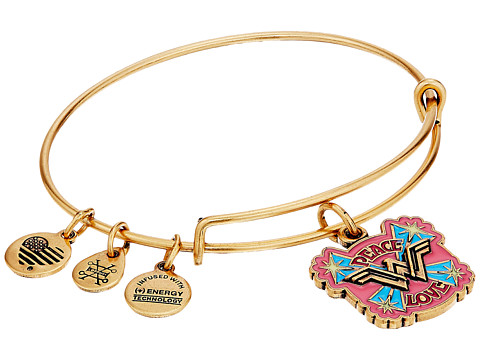 Alex and Ani Wonder Woman, Peace Love Bangle - Rafaelian Gold