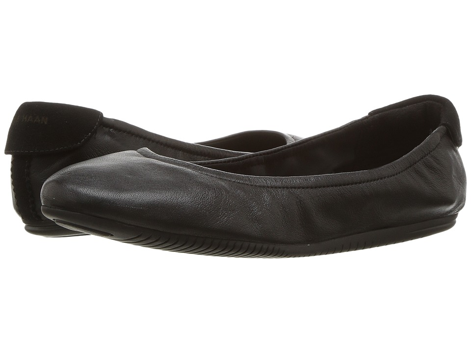 Cole Haan - Studiogrand Ballet (Black Leather) Womens Ballet Shoes