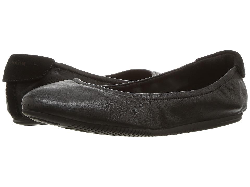 Cole Haan Studiogrand Ballet (Black Leather) Women