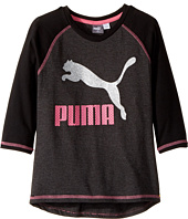 Puma Kids - 3/4 Sleeve Back Scoop Hem Top (Big Kid)