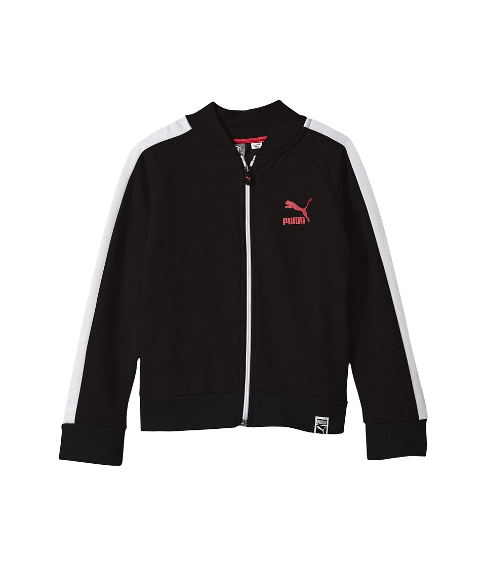 Puma Kids T7 Track Jacket (Big Kids) (PUMA Black) Girl