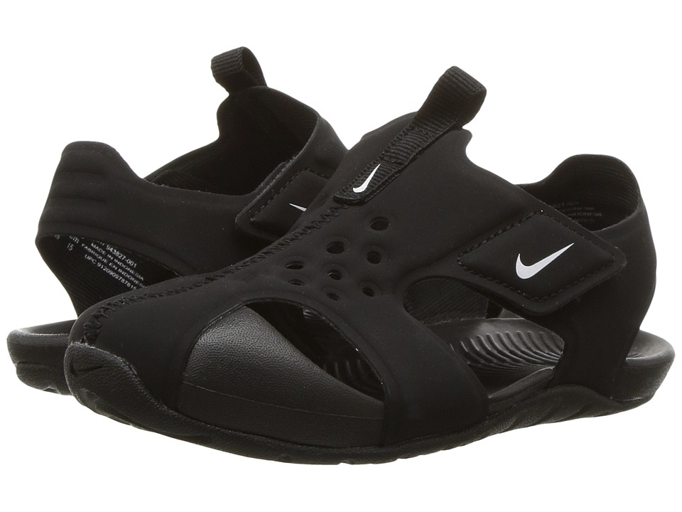 Nike Kids Sunray Protect 2 (Infant/Toddler) (Black/White) Boys Shoes