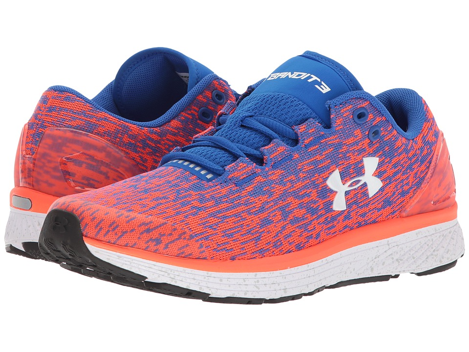 Under Armour Kids UA BGS Charged Bandit3 Ombre (Big Kid) (Ultra Blue/Neon Coral/White) Boys Shoes