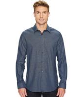 Calvin Klein - Infinite Cool Wide Stripe Dobby Button Down Shirt