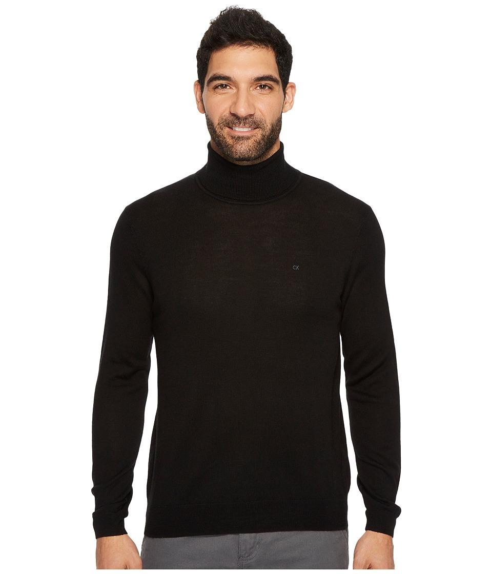 Calvin Klein Merino Turtleneck Sweater (Black) Men