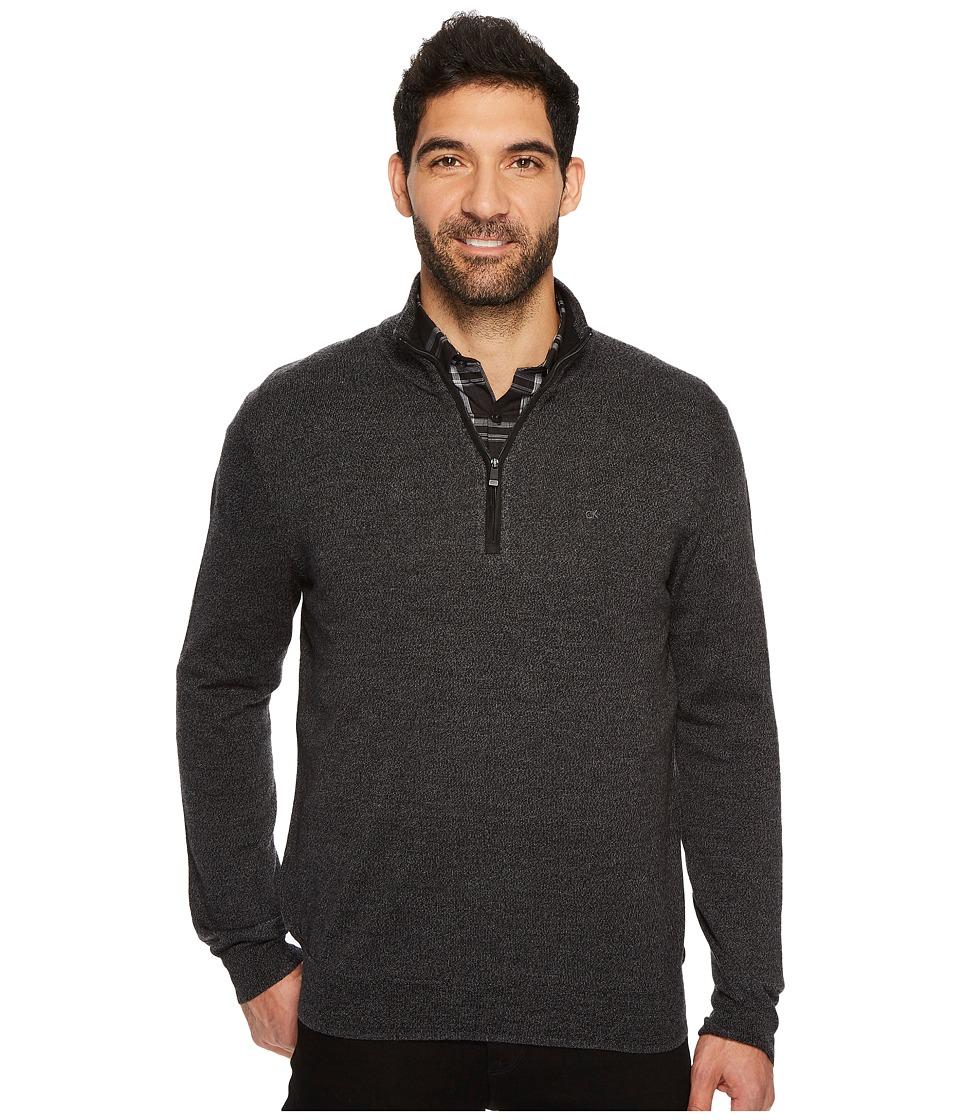 Calvin Klein Merino End on End 1/4 Zip Sweater (Ansa) Men