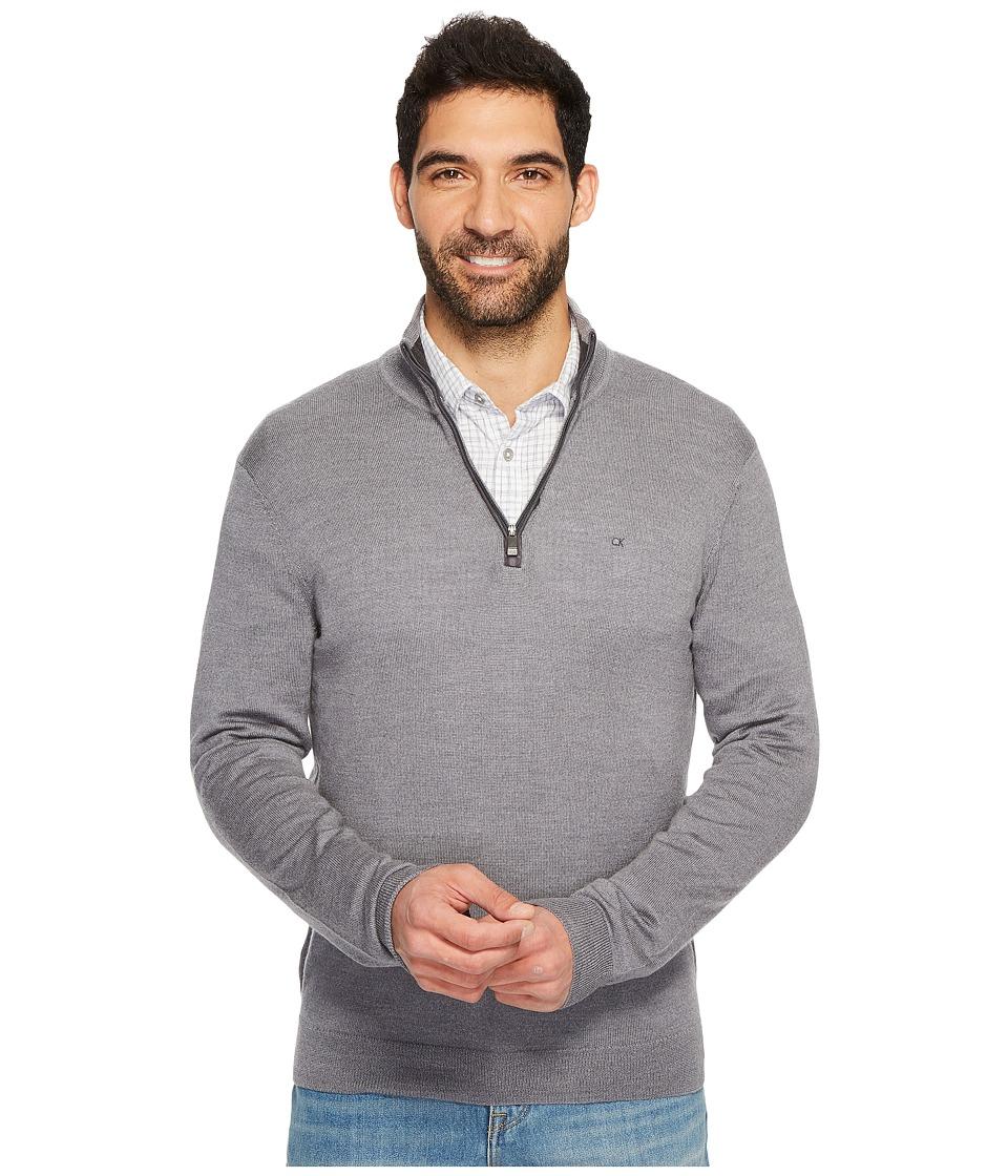 Calvin Klein Merino End on End 1/4 Zip Sweater (Albenga) Men