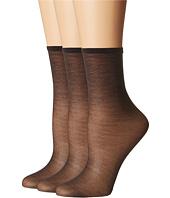 HUE - Sheer Anklet 3-Pack