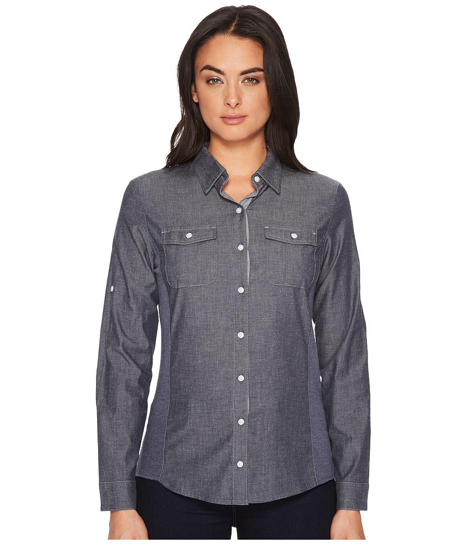 KUHL - Kiley Long Sleeve Shirt (Vintage Indigo/Sail Blue) Womens Long Sleeve Button Up