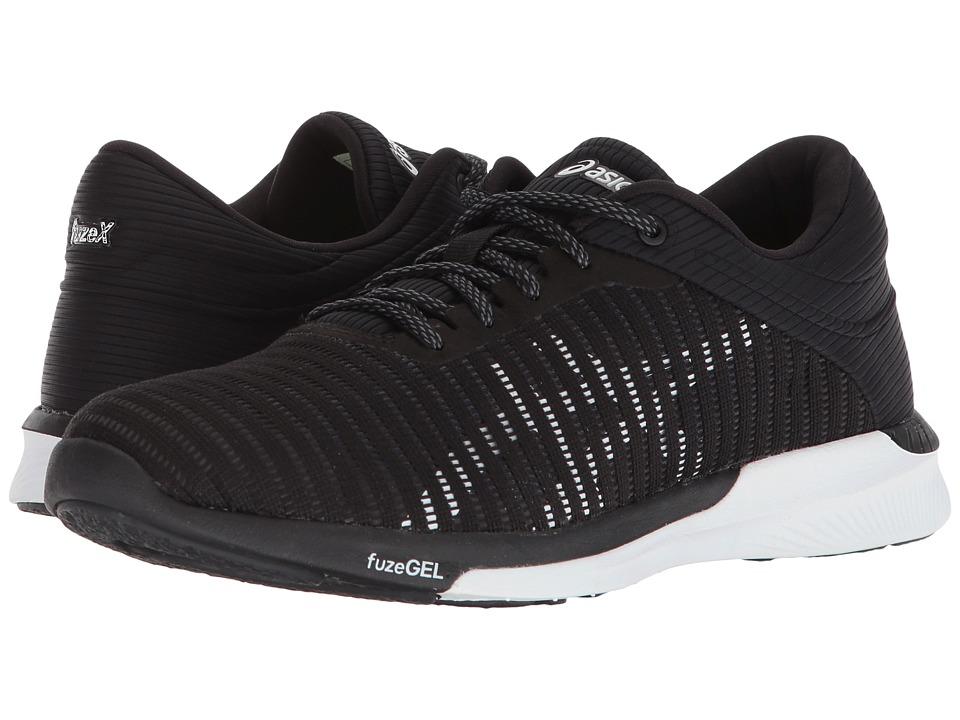 ASICS fuzeX Rush Adapt (Black/White/Dark Grey) Women's Running Shoes