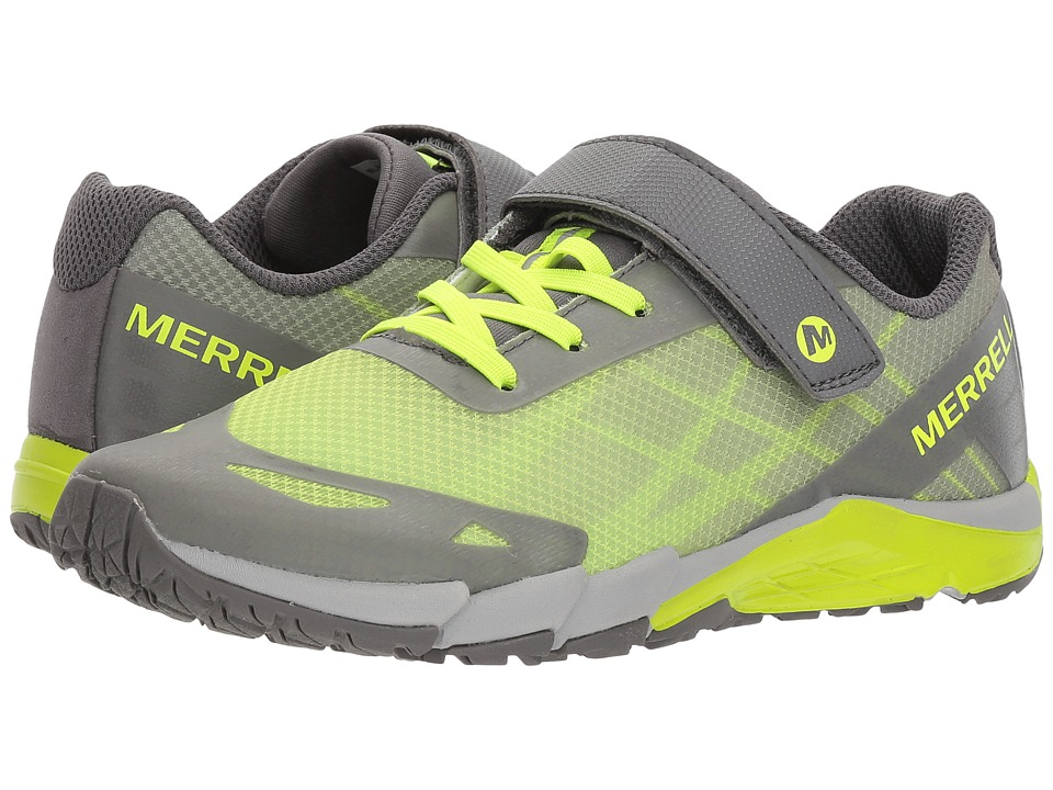 Merrell Kids - Bare Access A/C (Big Kid) (Grey/Citron) Boys Shoes