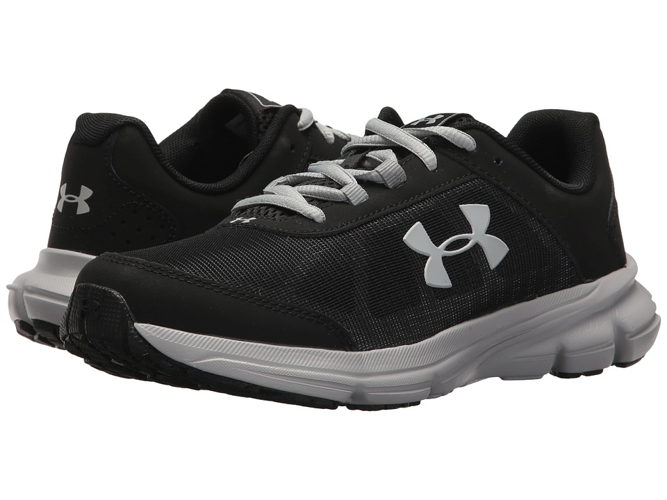 Under Armour Kids UA BGS Rave 2 Wide (Big Kid) (Black/Overcast Gray) Boys Shoes