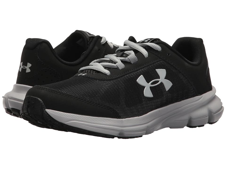 Under Armour Kids UA BGS Rave 2 Wide (Big Kid) (Black/Overcast Gray) Boys Shoes