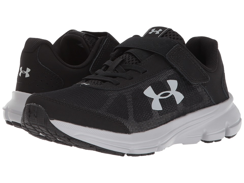 Under Armour Kids UA BPS Rave 2 AC Wide (Little Kid) (Black/Overcast Gray) Boys Shoes