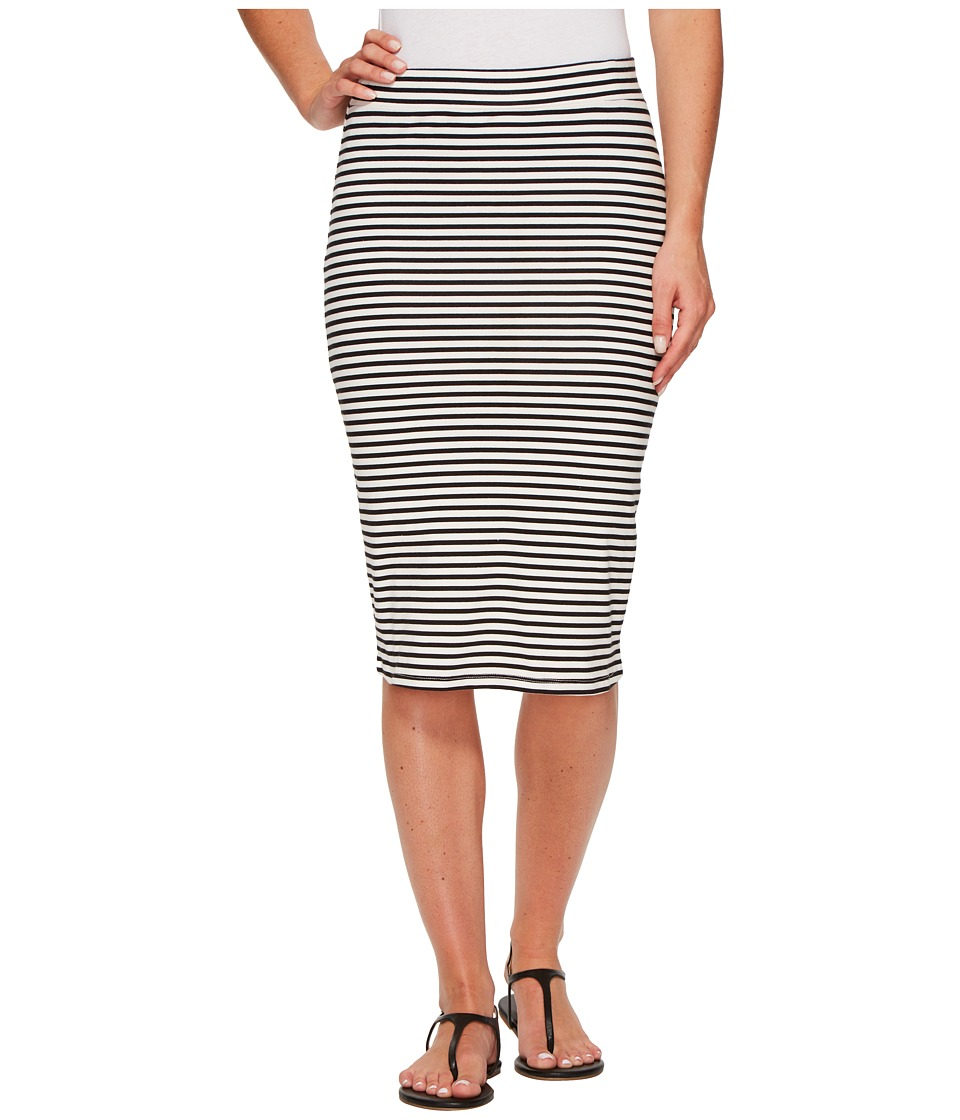 Roxy Call Up In Dreams Stripe Midi Bodycon Skirt (Marshmallow Classic Stripe) Women