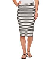 Roxy - Call Up In Dreams Stripe Midi Bodycon Skirt
