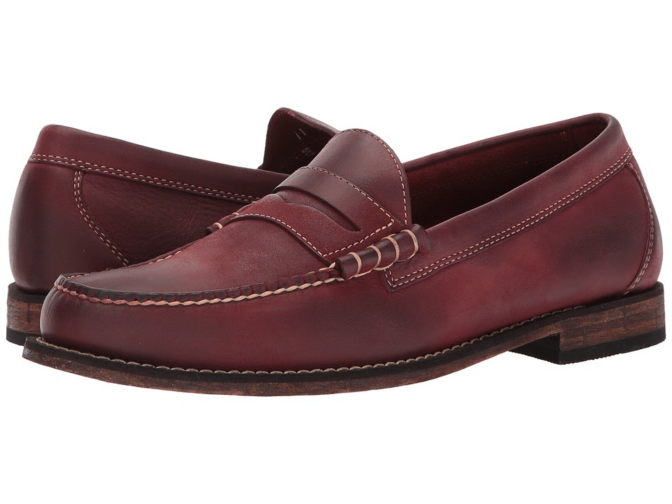 G.H. Bass & Co. Hayden Weejuns (Red Distressed Tumbled Full Grain) Men