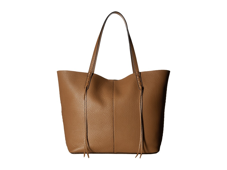 Rebecca Minkoff - Medium Unlined Tote with Whipstitch (Almond) Tote Handbags