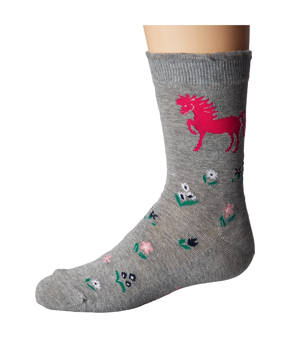 FALKE Horse Sock 2 (Toddler/Little Kid/Big Kid) (Light Gr...