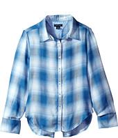 Tommy Hilfiger Kids - Yarn-Dye Split Hem Plaid Shirt (Big Kids)