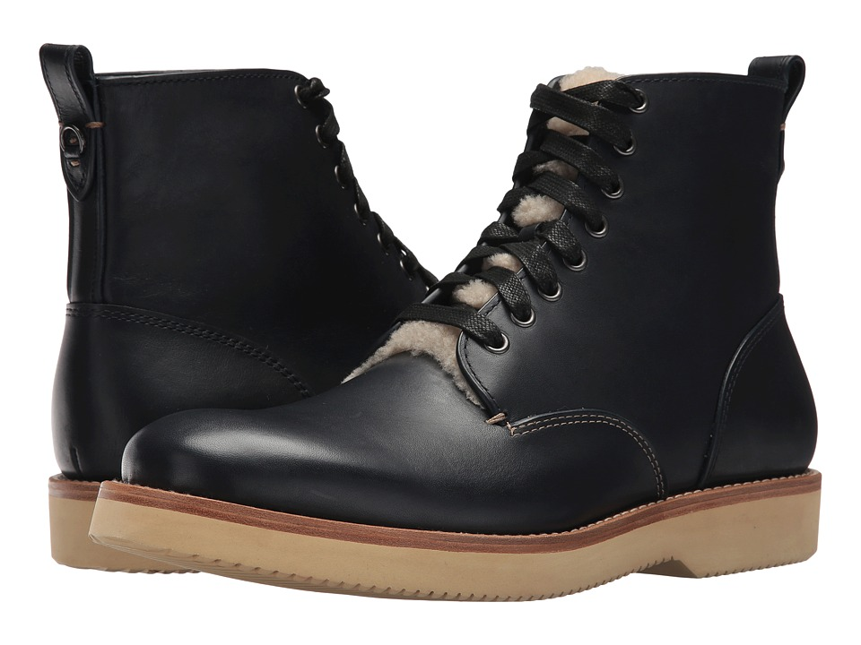 COACH - Sherling Derby Boot (Midnight Navy) Mens Boots