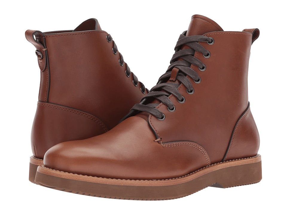 COACH - Derby Boot Leather (Dark Saddle) Mens Boots