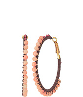Rebecca Minkoff - Thread Wrapped Beaded Hoop Earrings
