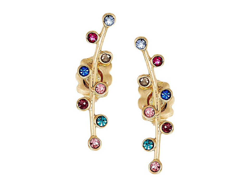 Rebecca Minkoff - Bubble Stone Ear Climber Earrings (Gold/Bright Multi) Earring