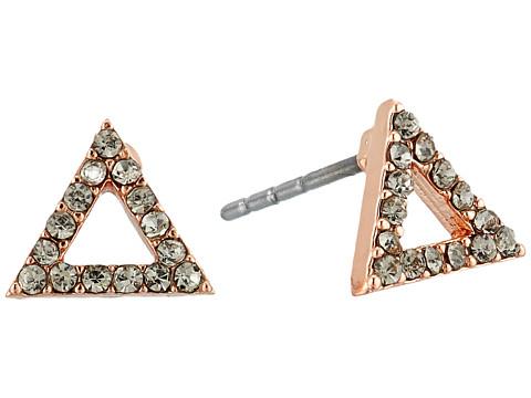Rebecca Minkoff Triangle Stud Earrings - Rose Gold/Black Diamond