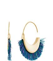 Rebecca Minkoff - Thread Fringe Small Hoop Earrings