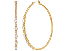 Rebecca Minkoff - Large Hoops Earrings with Tri Stone Detail