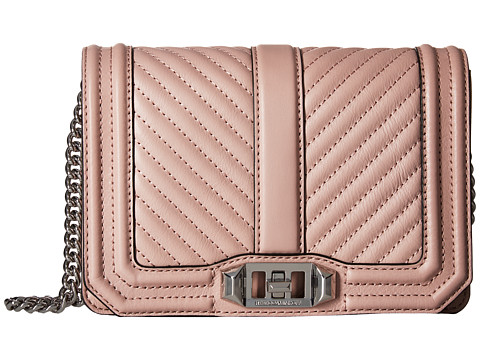 Rebecca Minkoff Chevron Quilted Small Love Crossbody - Vintage Pink