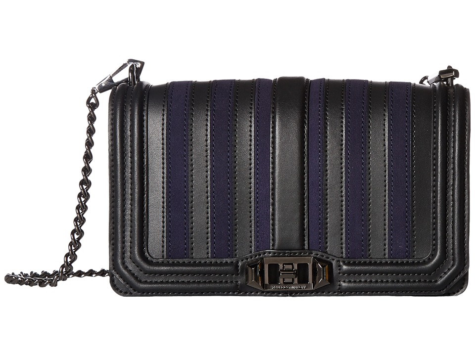 Rebecca Minkoff - Stripe Love Crossbody (Moon) Cross Body Handbags