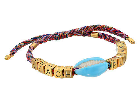 Rebecca Minkoff Lola Rope Bracelet with Tassel - Neutral Multi
