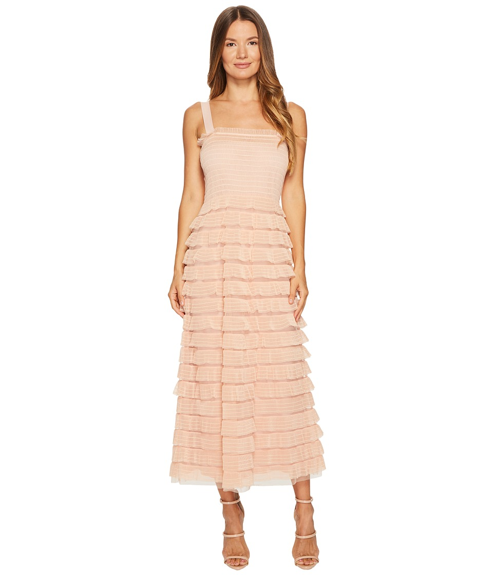 RED VALENTINO Tulle Barre Embroidery Dress (Nude) Women