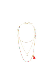 Rebecca Minkoff - Layered Collar Necklace with Multi Seed Beads