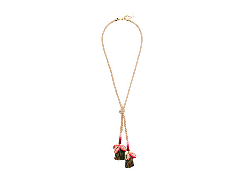 Rebecca Minkoff Lola Rope Lariat Necklace with Tassels - Neutral Multi