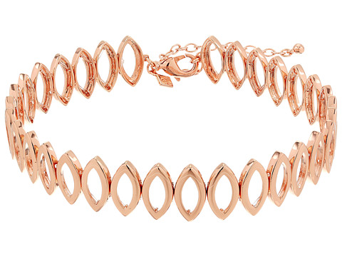 Rebecca Minkoff Navette Metal Choker Necklace - Rose Gold