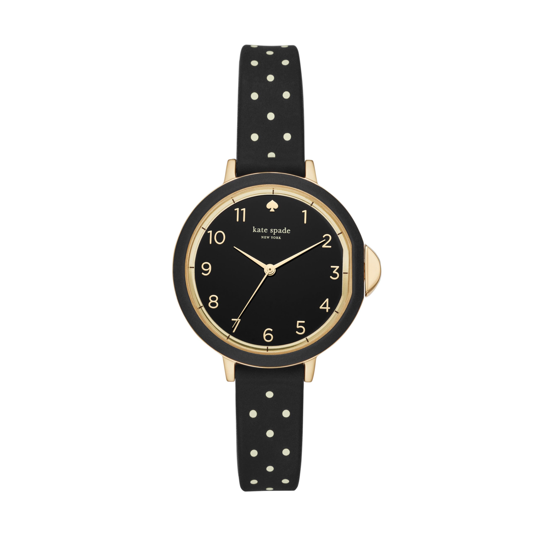 Kate Spade New York - Park Row Silicone - KSW1355 (Black/White) Watches
