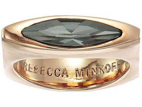 Rebecca Minkoff Sparkler Square Stacking Ring - Rose Gold/Black Diamond