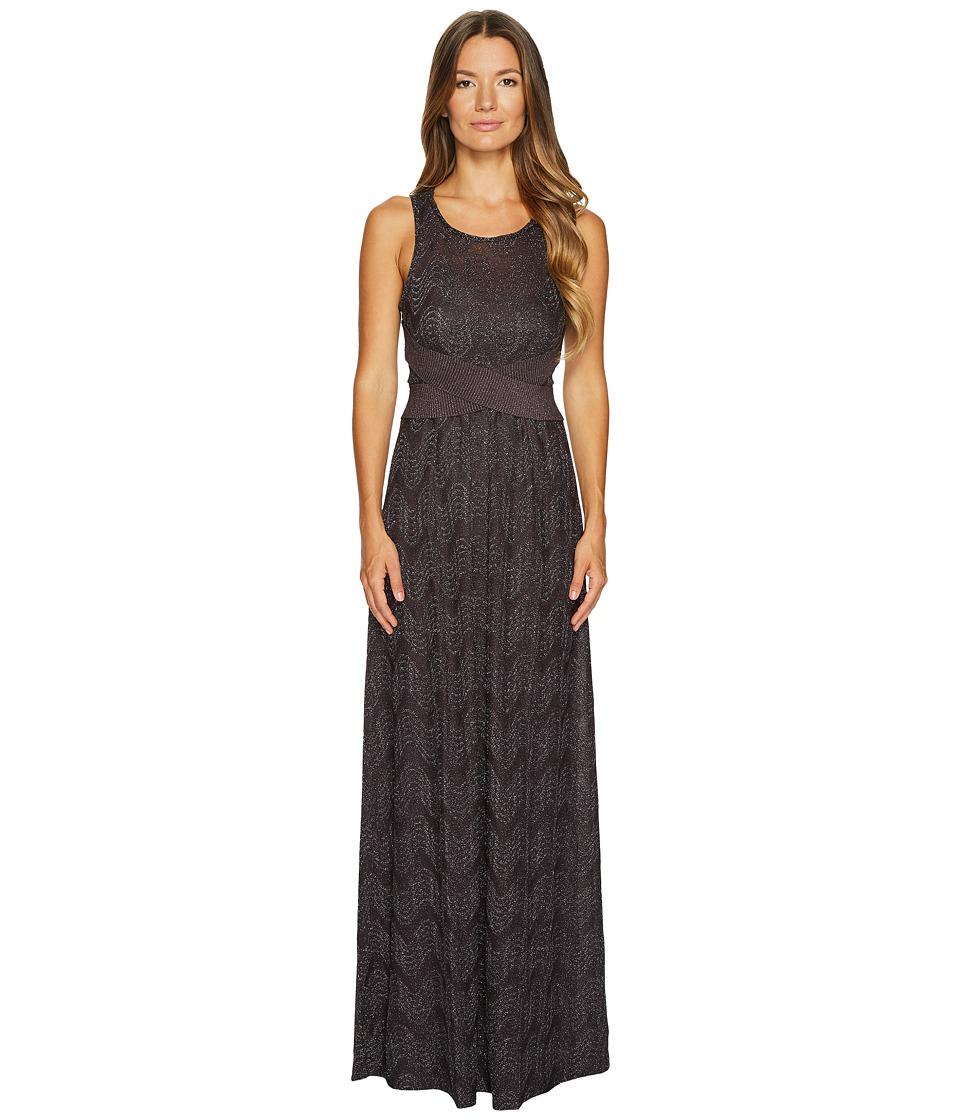M Missoni - Lurex Jersey Maxi Dress w/ Cross Front