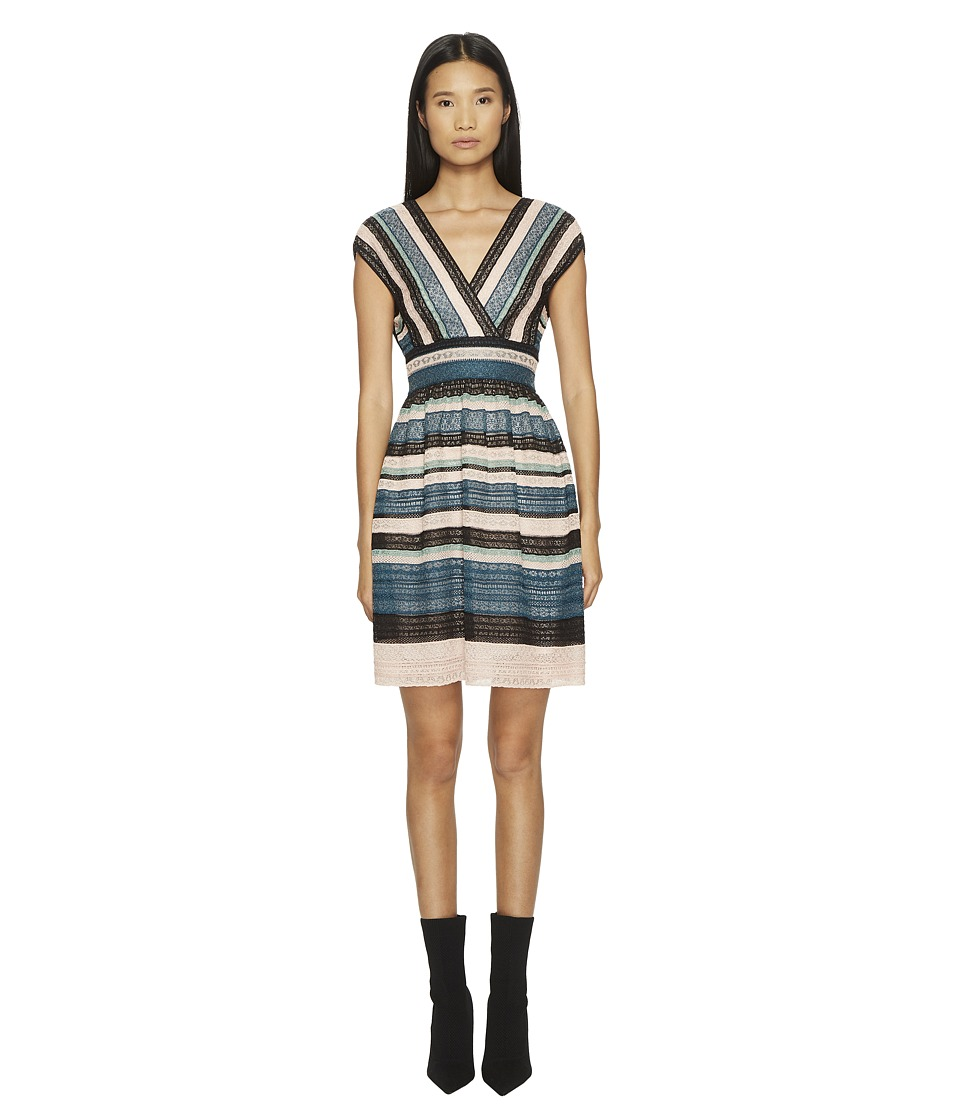 M Missoni - Lurex Lace Ribbon Dress (Teal) Womens Dress
