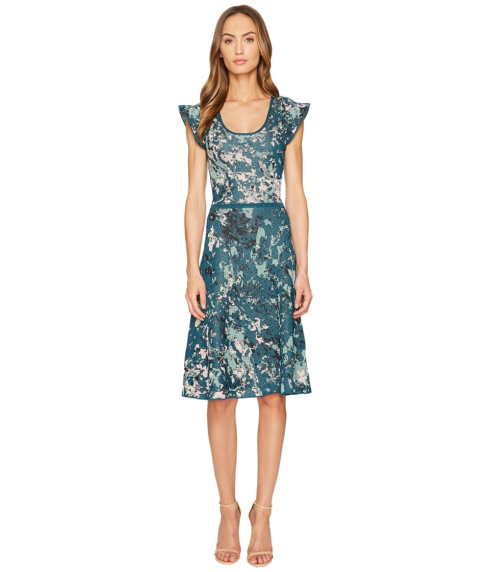 M Missoni Petal Jacquard Dress (Teal) Women