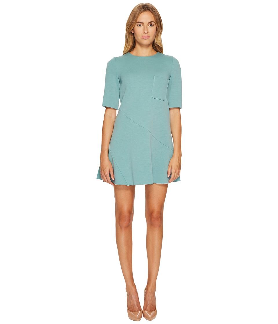 M Missoni Solid Woven Dress w/ Pocket (Sea) Women