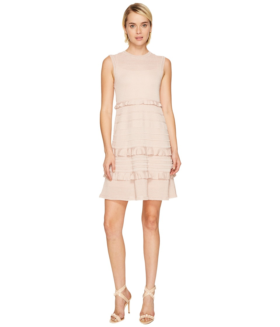 M Missoni Lurex Mouline Dress w/ Ruffles (Blush) Women
